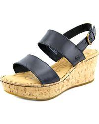 f8441ba83cb8 Lyst - Born Karis Open-toe Leather Slingback Sandal in Blue