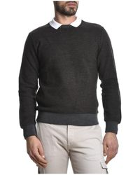 Eleventy Men's Beige Cotton Sweater in Brown for Men | Lyst