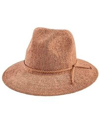 b33e559f389 San Diego Hat Company - Women s Knit Fedora With Braided Faux Suede Trim  Cth8078 - Lyst
