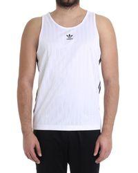 adidas - Men's White Polyester Tank Top - Lyst