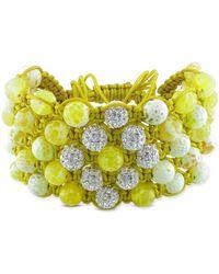 Catherine Malandrino - Shambhala Cuff Bracelet With Beads - Lyst