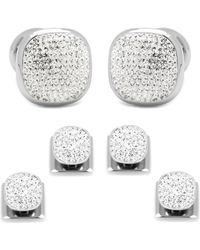 Ox and Bull Trading Co. - White Pave Crystal Stud Set - Lyst