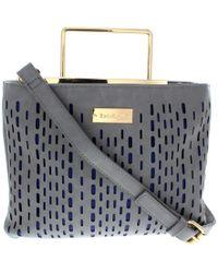 Bebe - Womens Marisa Faux Leather Perforated Crossbody Handbag - Lyst