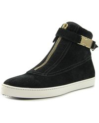 Furla - 802158 Women Round Toe Leather Black Trainers - Lyst