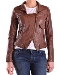 Pinko - Women's Mcbi242073o Brown Polyester Jacket - Lyst