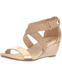 6ada64be6d0a8 Anne Klein | Womens Crisscross Open Toe Casual Wedged Sandals | Lyst