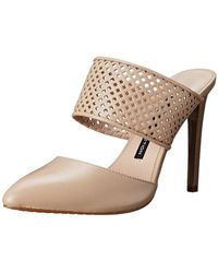 French Connection - Womens Mollie Leather Pointed Toe Casual Slide Sandals - Lyst
