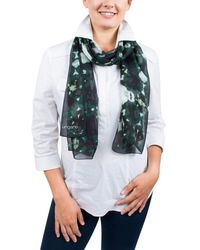 Emanuel Ungaro - Un7018 S7789 Tie Dye Print Green Silk Scarf - Lyst