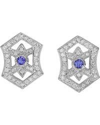 Effy - Fine Jewelry 14k 0.83 Ct. Tw. Diamond & Tanzanite Earrings - Lyst