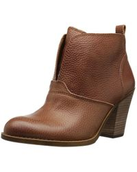 Lucky Brand - Womens Ehllen Leather Closed Toe Ankle Fashion Boots Fashion Boots - Lyst