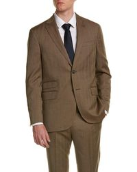 Michael Bastian - Mens Gray Label Wool Suit With Flat Front Pant, 40r - Lyst