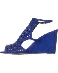 Material Girl - Womens Kinzley Fabric Peep Toe Casual Slingback Sandals - Lyst