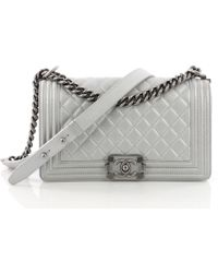 316f4dd09aac Lyst - Chanel Pre Owned Vintage Classic Double Flap Bag Quilted ...