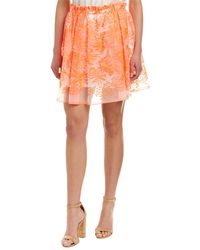Maje - Embroidered Organza Skirt - Lyst