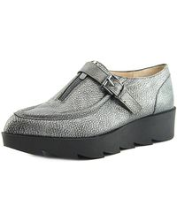 William Rast - Dee Women Moc Toe Leather Silver Oxford - Lyst