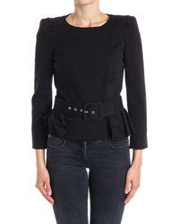 Patrizia Pepe - Women's Black Viscose Jacket - Lyst