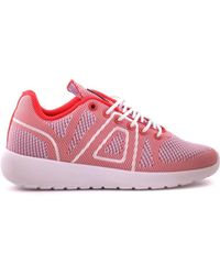 ASFVLT Sneakers | Women's White/red Fabric Sneakers | Lyst