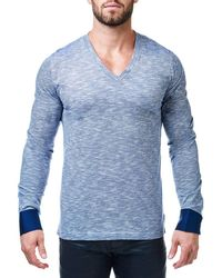 Maceoo - Long Sleeve V-neck - Lyst