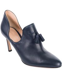 Gianvito Rossi - Dark Navy Leather Cut-out Vamp Tasseled Pumps - Lyst