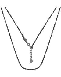 Jewelry Affairs - Sterling Silver Black Ruthenium Plated 22 Inch Sliding Adjustable Rope Chain Necklace, 1.5mm - Lyst