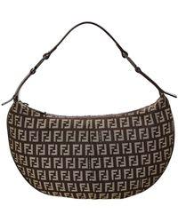 f2d6ca237012 Lyst - Fendi Tobacco Zucca and Leopard Canvas Chef Shoulder Bag in Brown