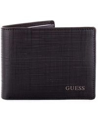 Guess - Men's Black Polyester Wallet - Lyst