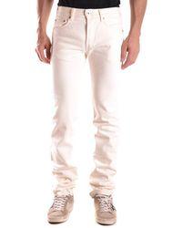 Evisu - Men's Mcbi338010o White Cotton Jeans - Lyst