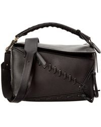 Loewe | Puzzle Laced Leather Satchel | Lyst