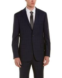 Hickey Freeman - Wool Suit With Flat Front Pant - Lyst
