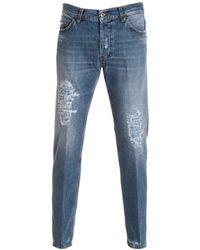 Aglini - Men's Blue Cotton Jeans - Lyst