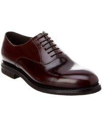 Brunello Cucinelli - Leather Derby Shoe - Lyst