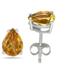 Tia Collections - 8x6 Pear Shape Citrine Earrings In 14k White Gold - Lyst