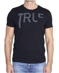 Dondup - Men's Black Cotton T-shirt - Lyst