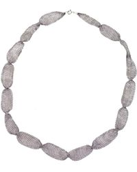"Jewelista - 32"" Gray Titanium Mesh Necklace - Lyst"