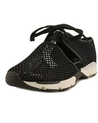 All Black - Amazing Mesh Women Round Toe Synthetic Black Trainers - Lyst
