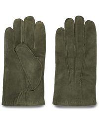 GANT - Men's Green Suede Gloves - Lyst