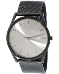 Kenneth Cole - Men's Kc50337002 Black Stainless-steel Japanese Quartz Fashion Watch - Lyst