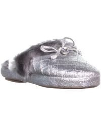 Michael Kors - Carter Bow Tie Slippers, Silver - Lyst