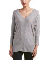 Magaschoni - Silk Cashmere V-neck Ottoman Stitch Sweater - Lyst