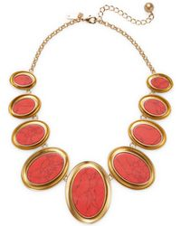 Kate Spade - Bright & Bold 12k Plated Bib Necklace - Lyst