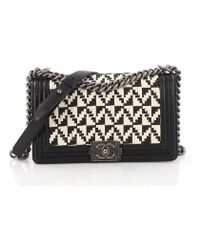 0df25c605323 Lyst - Chanel Pre Owned Boy Flap Bag Quilted Calfskin Old Medium in Gray