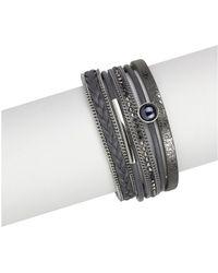 Saachi - Handmade Grey Magnetic Bracelet - Lyst