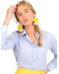 The Shirt - The Signature Shirt In Polka Dot - Lyst