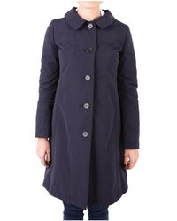Aspesi - Women's Blue Cotton Coat - Lyst