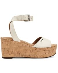 COACH - Womens Becka Leather Open Toe Casual Ankle Strap Sandals - Lyst