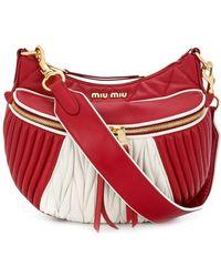 Miu Miu - Women's Red Leather Handbag - Lyst