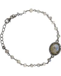 Adornia - Labradorite And Diamond Halo Bracelet - Lyst