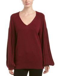 Ella Moss - Blouson Sleeve Wool-blend Sweater - Lyst