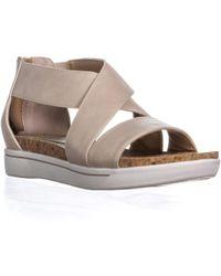 Adrienne Vittadini - Claud Flat Comfrot Sandals, Bone - Lyst