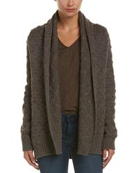Vince - Tuck Stitch Wool & Yak-blend Cardigan - Lyst